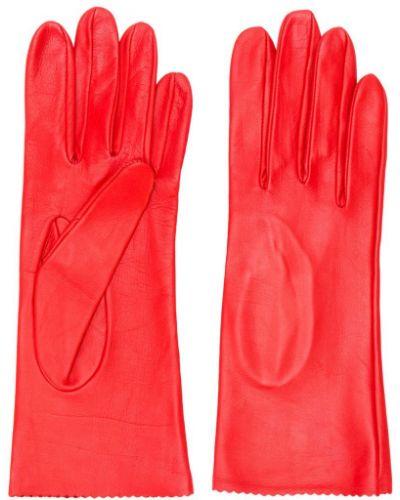 Кожаные перчатки красный Manokhi