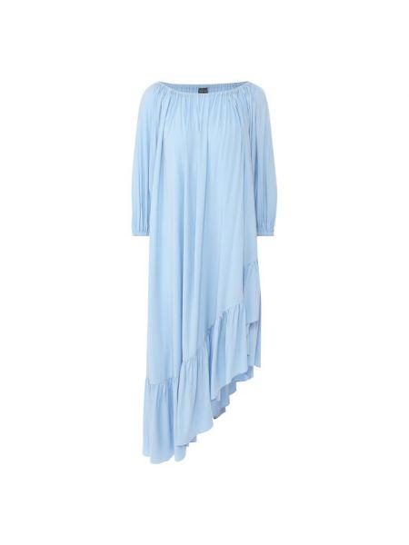 Платье свободного кроя - синее Natayakim