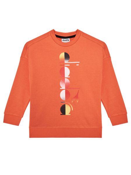 Bluza dresowa - pomarańczowa Diadora
