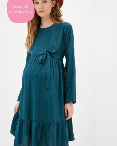 Прямое зеленое платье Mama.licious