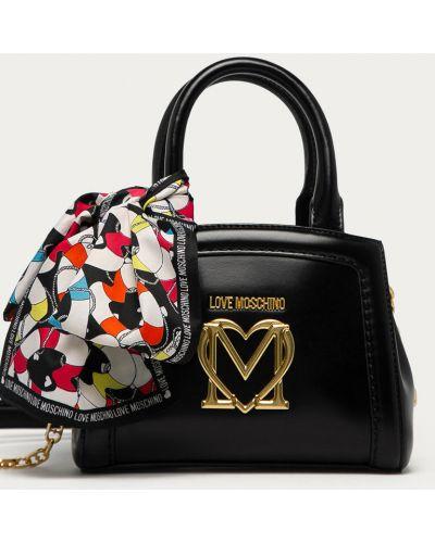 Czarna torba z krótkimi uchwytami Love Moschino