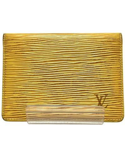 Żółty portfel skórzany Louis Vuitton Vintage