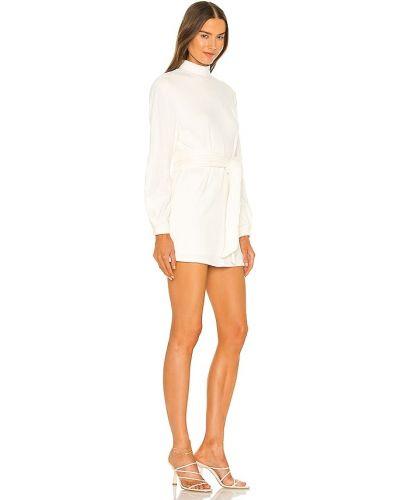 Biała sukienka z wiskozy Majorelle
