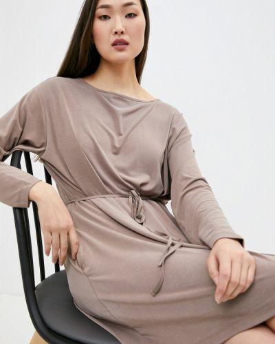 Повседневное бежевое платье French Connection
