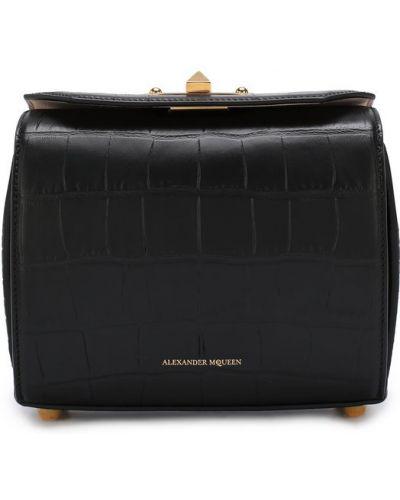 Кожаная сумка черная Alexander Mcqueen