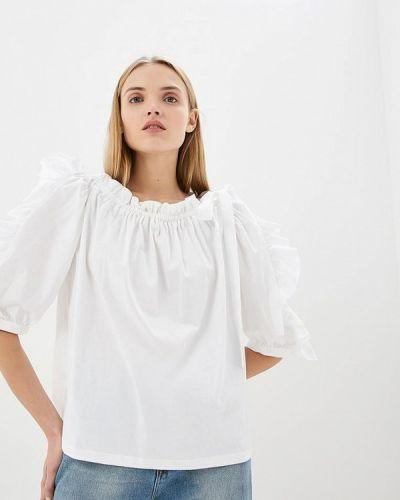 Белая блузка с открытыми плечами See By Chloe
