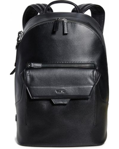 С ремешком черный рюкзак для ноутбука из натуральной кожи Tumi
