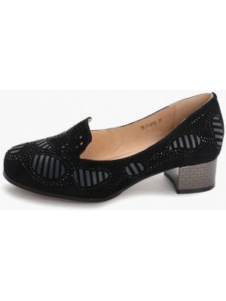 Синие велюровые туфли закрытые Makfine