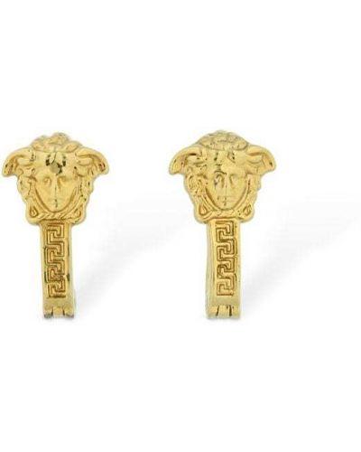 Kolczyki ze sztyftem metal złoto Versace