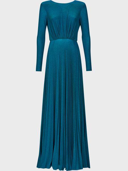 Бирюзовое платье из вискозы Elisabetta Franchi