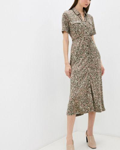 Платье рубашка - хаки French Connection