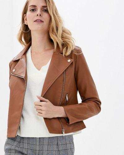 Кожаная куртка осенняя коричневая Softy