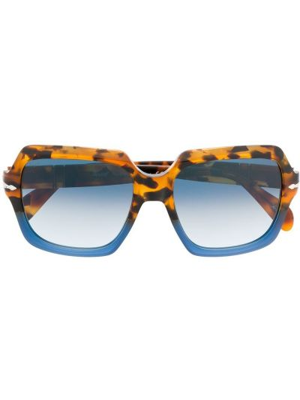 Солнцезащитные очки хаки квадратные Persol