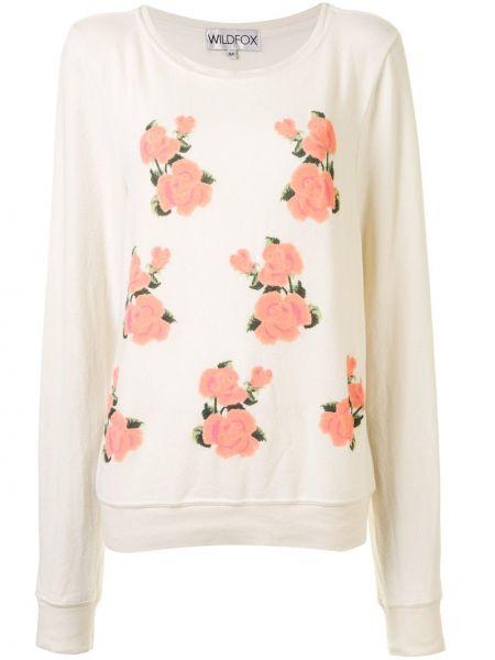 Biała bluza z długimi rękawami z printem Wildfox