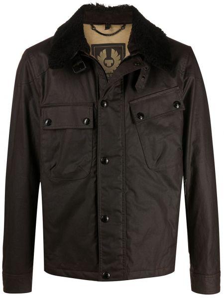 Bawełna bawełna długa kurtka z długimi rękawami z kieszeniami Belstaff