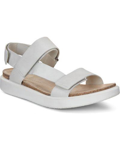 Сандалии белый на каблуке Ecco
