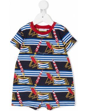 Комбинезон с логотипом круглый Dolce & Gabbana Kids