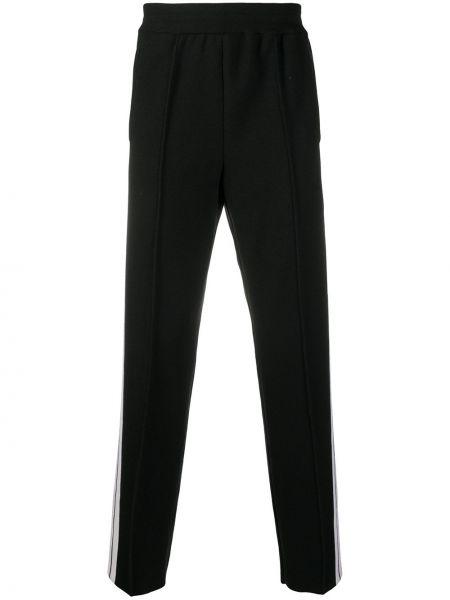 Spodni wełniany czarny spodnie z paskami Palm Angels