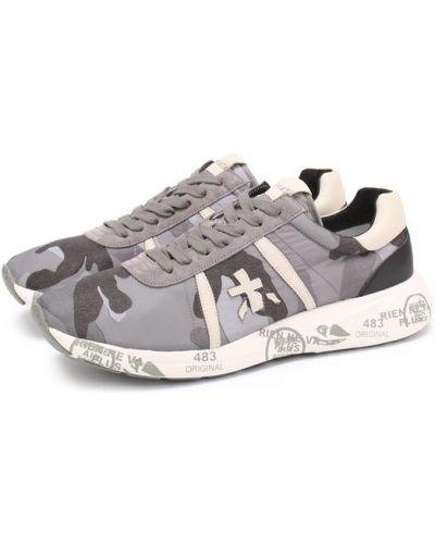 Кроссовки на шнуровке с принтом Premiata
