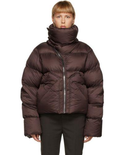 Красное стеганое пуховое длинное пальто Rick Owens