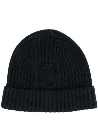 Prążkowany czarny czapka beanie wełniany Chloé Kids