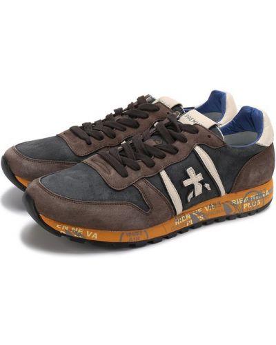 Кроссовки на шнуровке замшевые Premiata