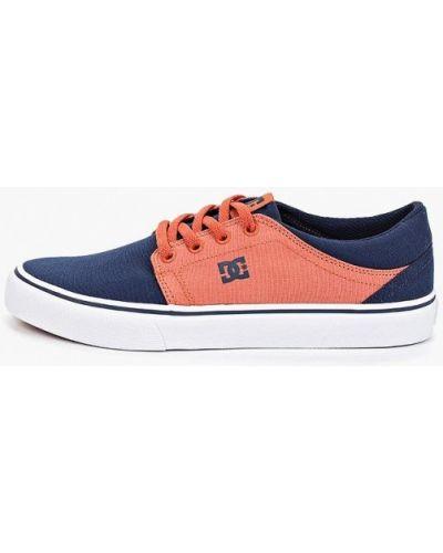 Кеды красные синий Dc Shoes
