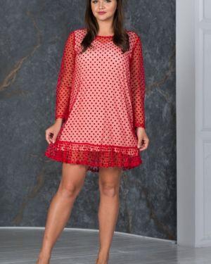 Вечернее платье в горошек из штапеля Victoria Filippova
