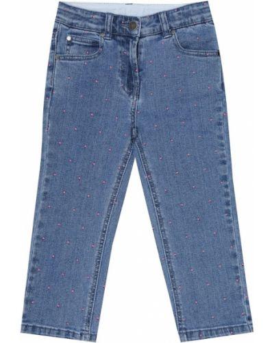 Ватные хлопковые синие джинсы Stella Mccartney Kids