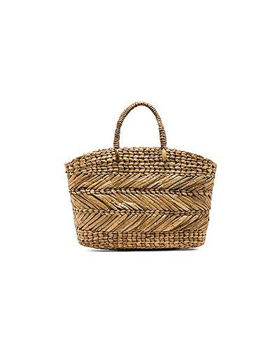 Сумка-мешок плетеная соломенная Ellen & James