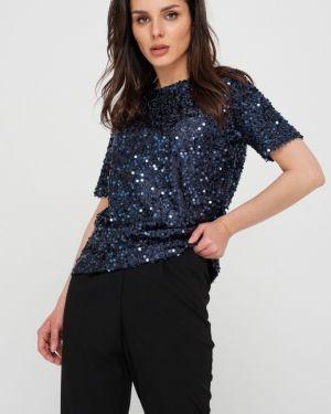Блузка с пайетками прямая Fly