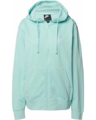 Bluza rozpinana z kapturem - turkusowa Nike