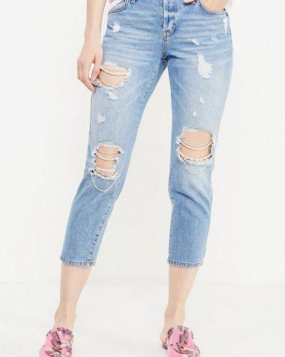 Голубые джинсы рваные River Island