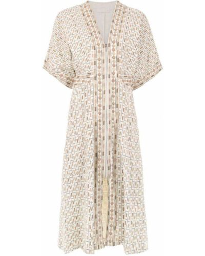 Платье мини миди с V-образным вырезом Framed