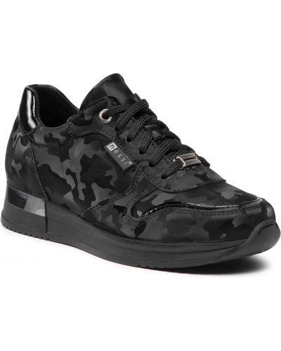 Buty sportowe skorzane - czarne Nessi