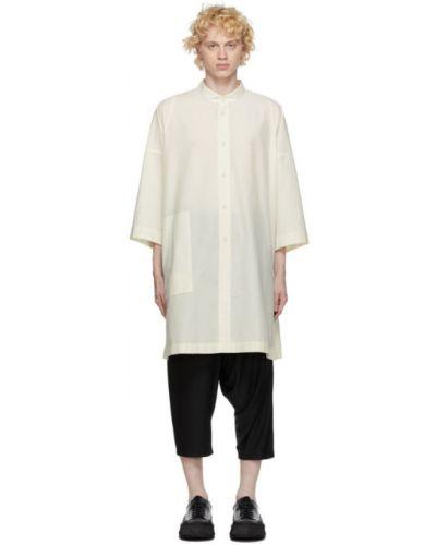Рубашка с воротником с заплатками с манжетами с карманами 132 5. Issey Miyake