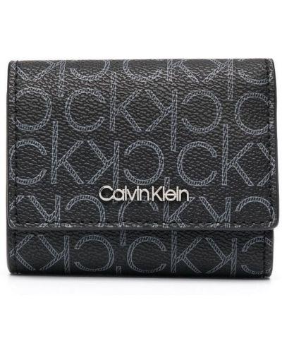Черный кошелек со шлицей со складками Calvin Klein