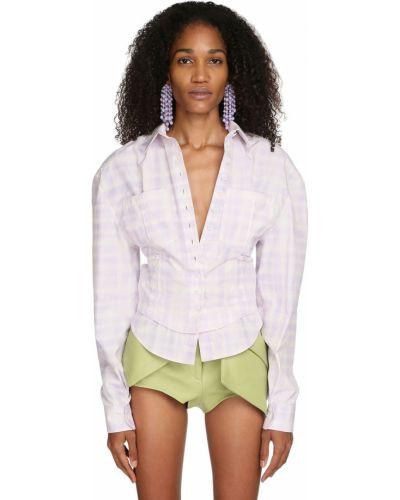 Классическая рубашка с воротником с карманами на пуговицах с вырезом Jacquemus