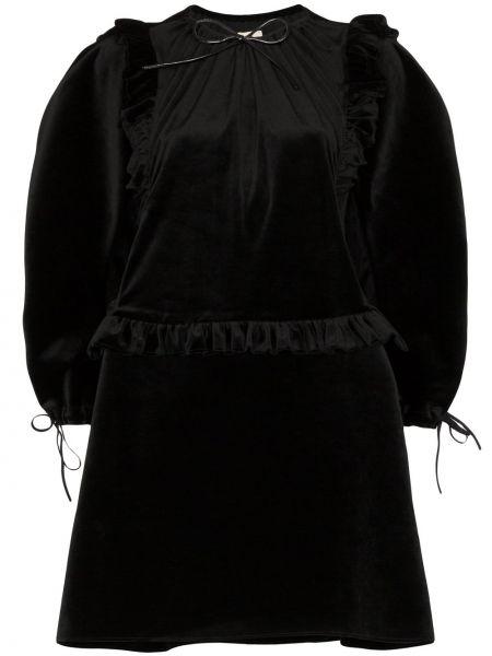 Czarna sukienka mini z wiskozy Shushu/tong