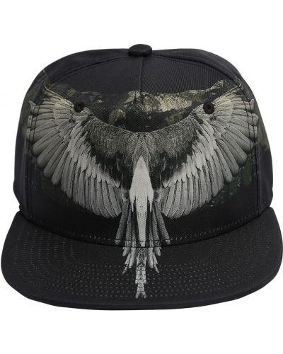 Z paskiem baseball czarny kapelusz z haftem Marcelo Burlon County Of Milan