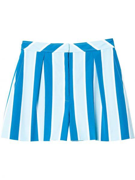 Синие шорты с принтом Carolina Herrera