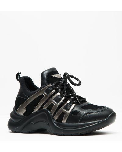 Кроссовки замшевые черные Prima D'arte