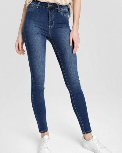 Синие джинсы-скинни узкого кроя O'stin