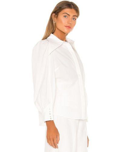 Хлопковая белая рубашка свободного кроя C/meo