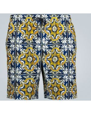 Белые шорты для плаванья с карманами Dolce & Gabbana