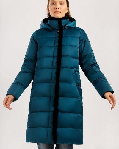 Кожаная куртка с капюшоном - бирюзовое Finn Flare