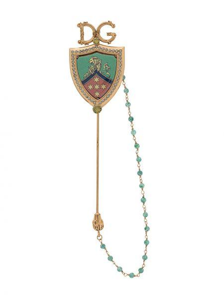 Ażurowa złota broszka Dolce And Gabbana