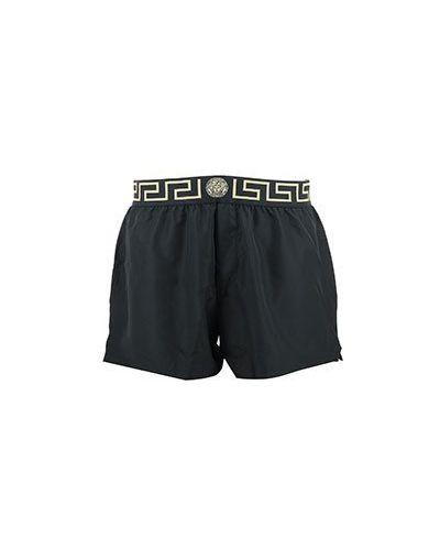 Шорты черные летние Versace