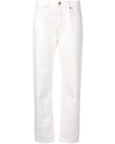 Прямые джинсы классические - белые Mih Jeans