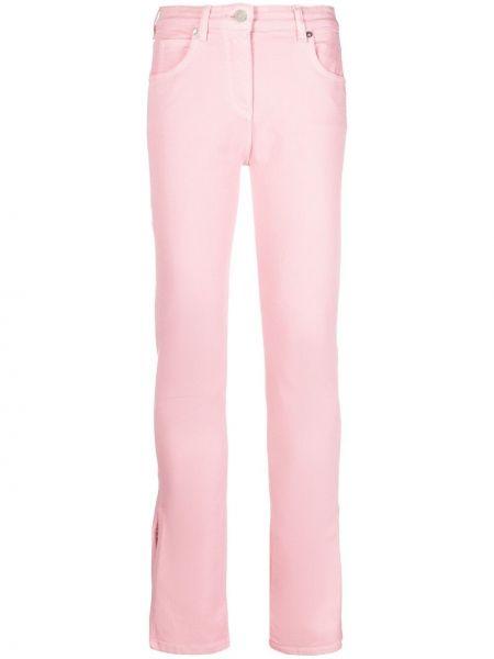 Розовые джинсы с высокой посадкой на пуговицах Blumarine